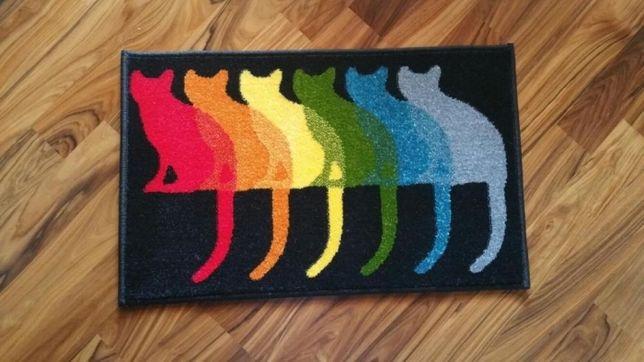 Коврик цветной 50х80см с изображением котов