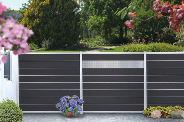NOWOŚĆ ! Ogrodzenie panelowe WPC kompozytowo - aluminiowe, PROMOCJA !
