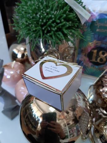 Prośba o świadkowie pudełeczko dla Świadkowej dekoracje podziękowania