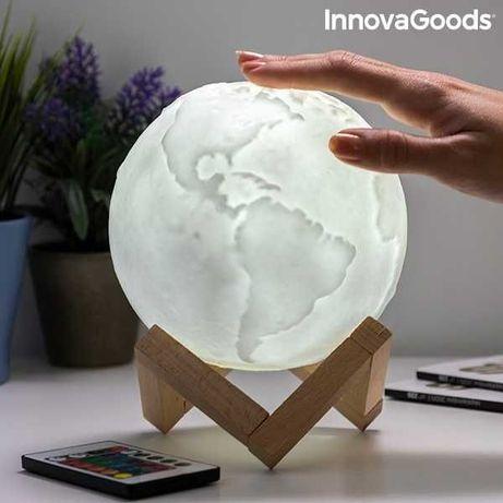 Lâmpada LED Recarregável Planeta Terra Worldy -envio grátis* - NOVO