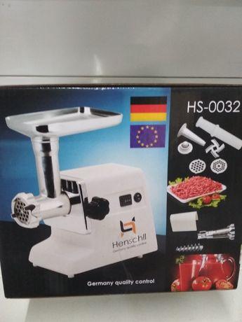 Надёжная электро мясорубка 3 в 1.Henschll HS-0032 2500 W+Соковыжималка