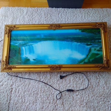 Podświetlany obraz na prąd, wodospad, grający