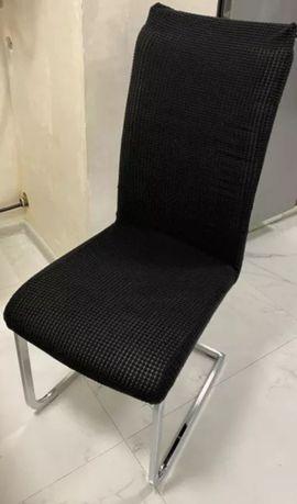 Capa para cadeira pretas tipo veludo promoção