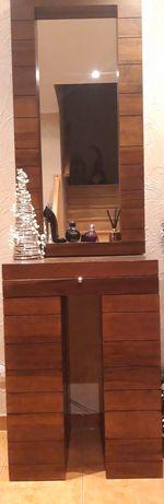 Lustro z konsolą Agata Meble (drewno) Piękny mebel