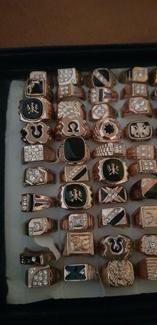 Біжутерія золото печатки кольцо