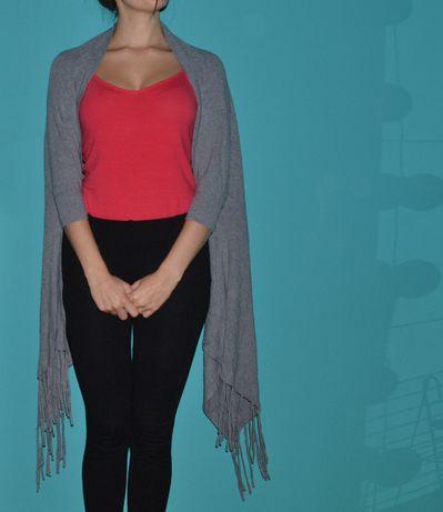 Sweter pareto ponczo kimono narzutka blezer XS 34 S 36 M 38 L 40 szal