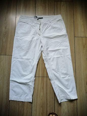 Spodnie spodenki do kolan 38 M białe