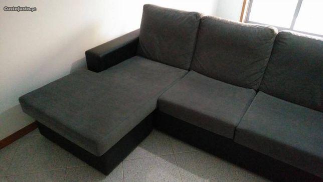 Sofá com chaise longue reversível