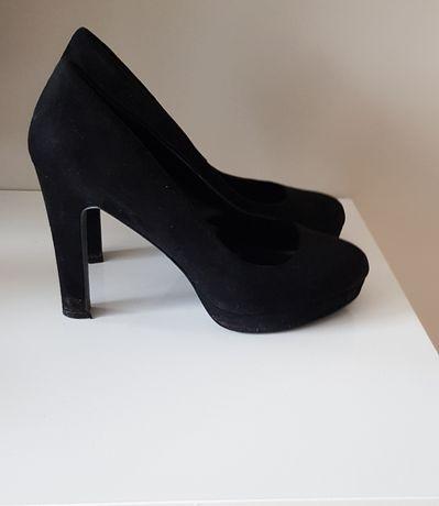 Czarne buty na wysokim obcasie even&odd zalando r. 41 wysyłka gratis
