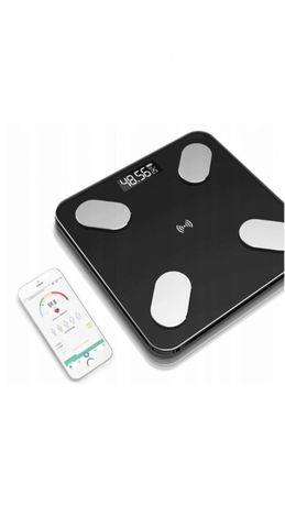 Inteligenta waga łazienkowa bluetooth szklana aplikacja pomiaru fitnes