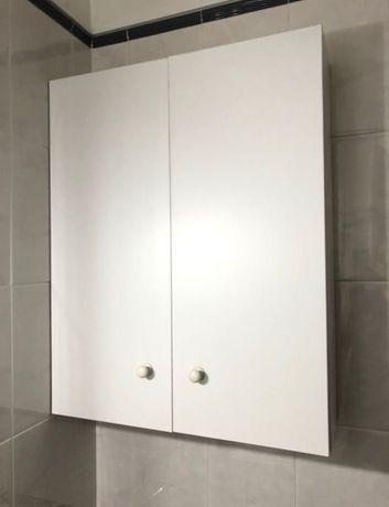 Armário casa banho wc parede branco