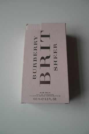 Продам оригинальные духи Burberry Brit Sheer 100мл