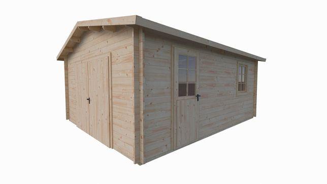 Garaż z drewna - JÓZEF 470x570 24m2