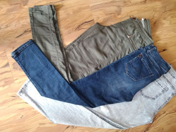 Fajny Zestaw Spodni Plus Sweter Tunika Gratis
