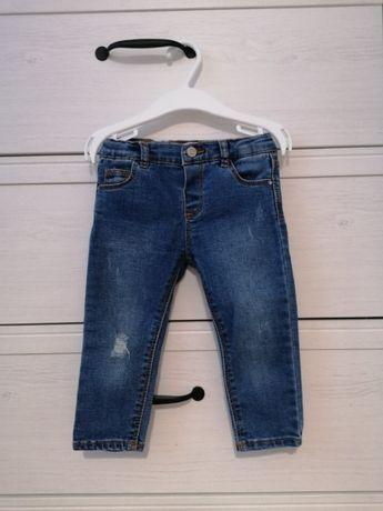 Spodnie dżinsowe ZARA rozmiar 86 dla dziewczynki