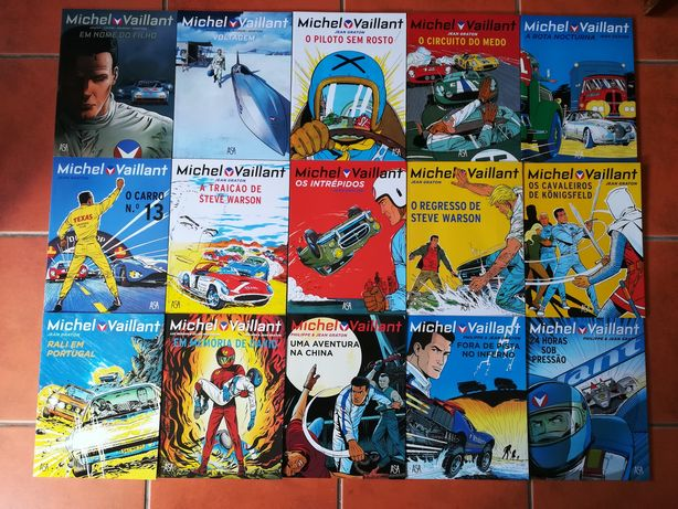 15 Livros de Michel Vaillant (Coleção Completa)