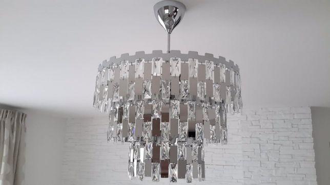 Lampa wisząca ANZIO w stylu glamur - średnica 49 cm