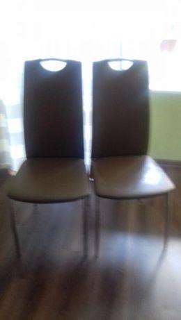 Krzesła metalowe SIGNAL ,beżowe.