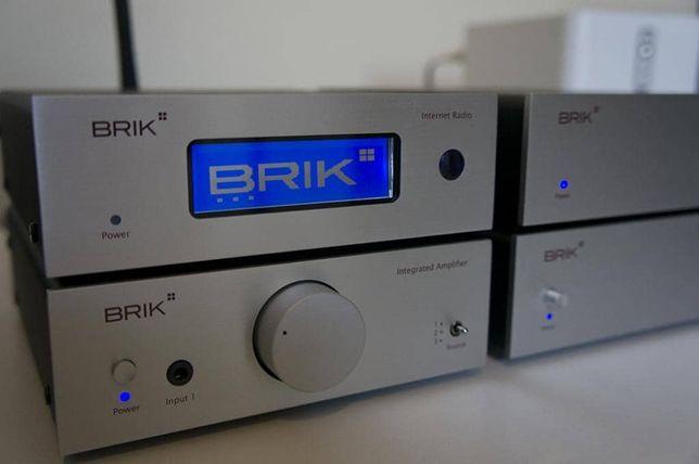 BRIK AUDIO zestaw wzmacniacz streamer bluetoth dac