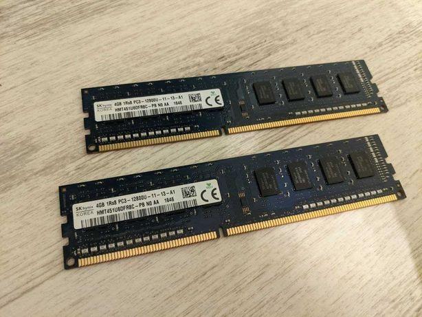 8Gb (2x4Gb) DDR3 KiT SK-Hynix PC3-12800 HMT451U6DFR8C-PB идеал.сост ПК