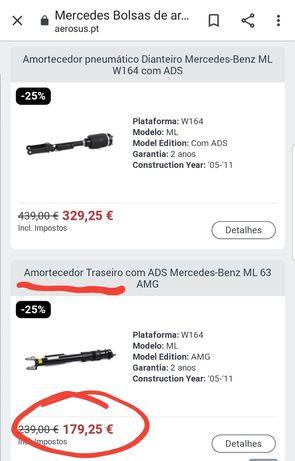 Amortecedores airmatic MERCEDES ML320cdi GL320cdi R320cdi com ADS w164