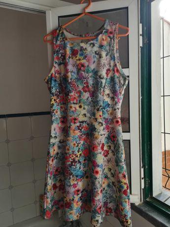 Vestido padrão floral, L
