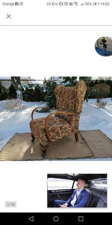 Fotel Uszak na wygodnych sprężynach Vintage