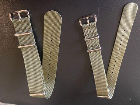 Braceletes Nato Verde Militar 18mm e 24mm Novas