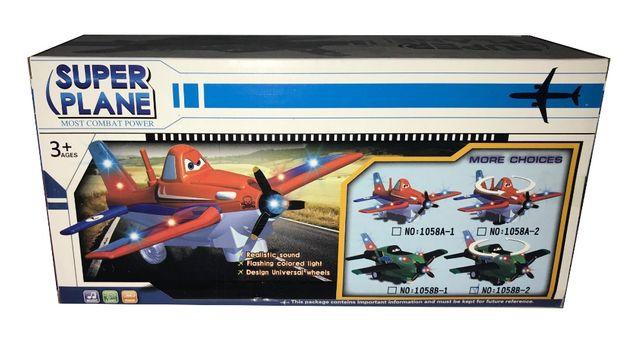 Samolot Super Plane dla dzieci świeci, lata, gra!!