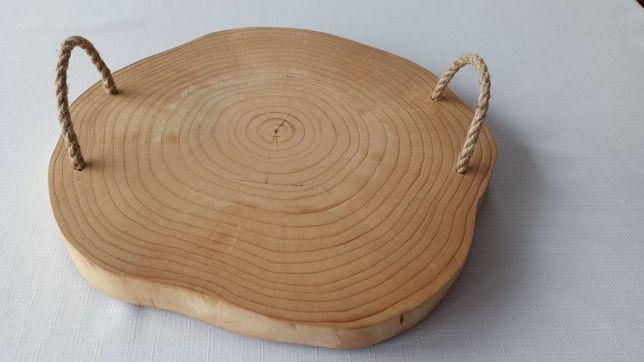 Deska, taca drewniana do serwowania