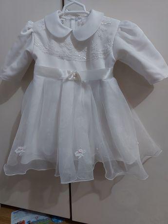 Ocieplane ubranko do chrztu dla dziewczyki