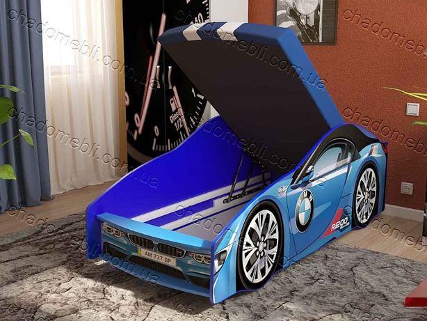 Ліжко машина з матрасом механізмом кроватка машина БМВ кровать 70х155