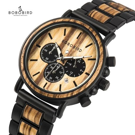 Часы Bobo bird Дерево+металл