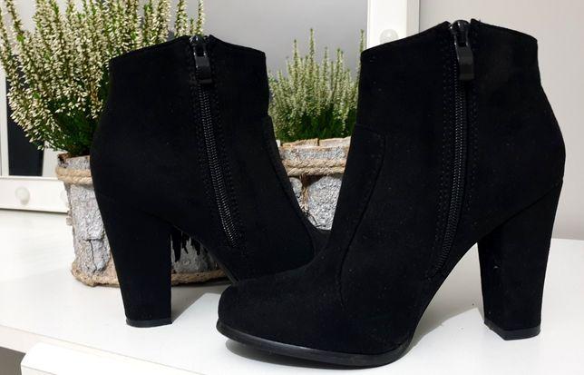 Jesienne Czarne botki