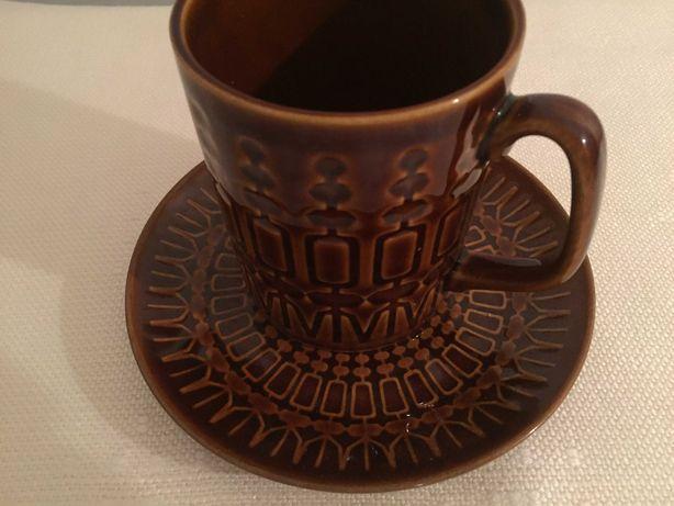 Kubek z talerzykiem Pruszków  , wzór Aztek