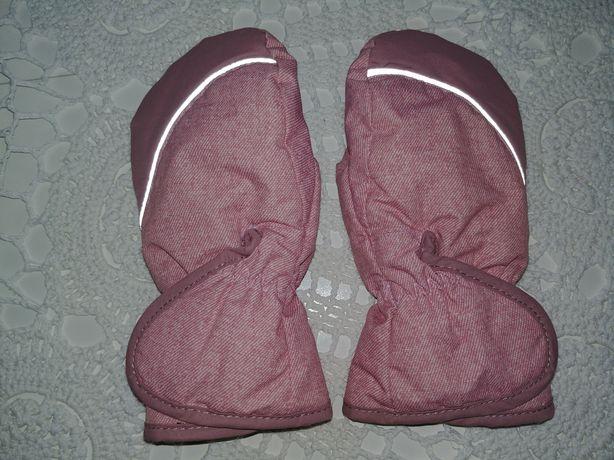 Rękawice z polarkiem różowe H&M 86/92