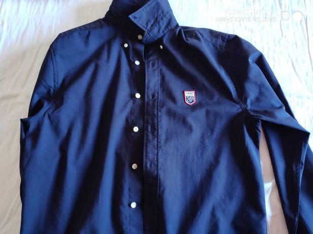 Camisa Gant (azul marinho) (M) (pouco uso)