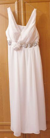Biała piekna sukienka