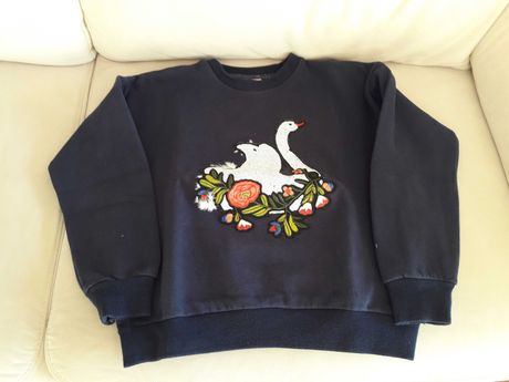 Swet-shirt de menina com cisne