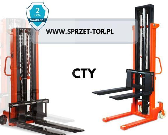 Sztaplarka CTY-EH 1T1,6M wózek paletowy podnośnikowy ręczny masztowy