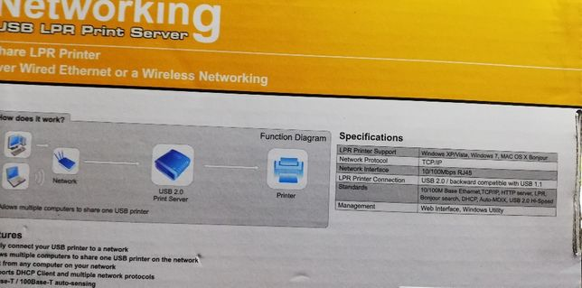 print server - impressora de rede