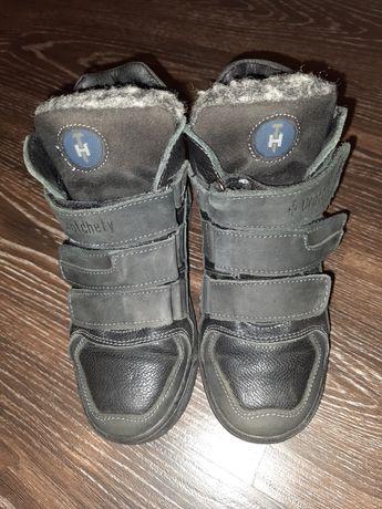 КОЖАНЫЕ ЗИМНИЕ Ботинки на мальчика 32р