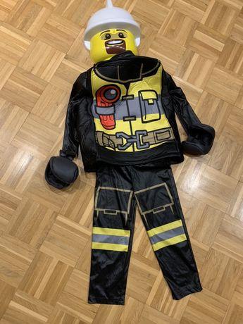 Lego City strażak strój kostium 4-6 lat 104-122 rozmiar