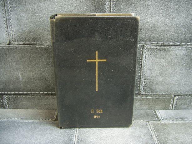 Biblia Stettin Ewangelifches 1931 rok Pommern Szczecińskiej drukarni
