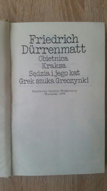 """Książka Friedricha Durrenmatta - """" Grek szuka Greczynki """"."""