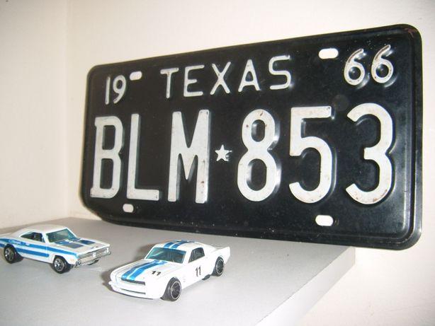 Tablica rejestracyjna kolekcjonerska Texas oryg. 1966
