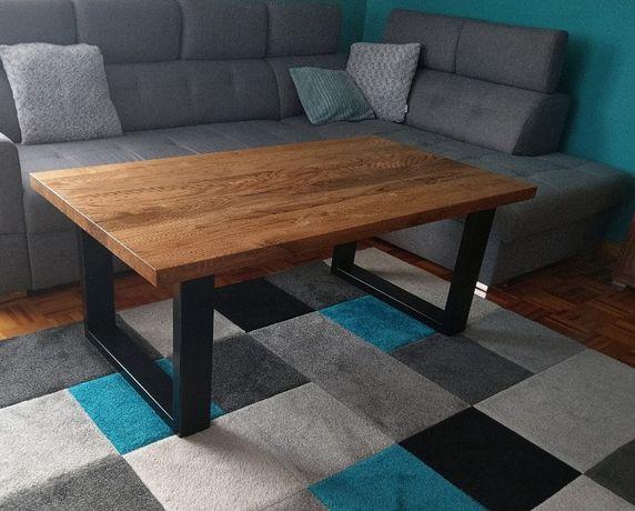 Ława stół dębowy loft industrial