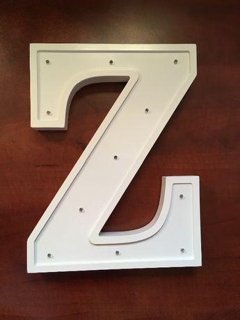 """Litera """"Z"""" lampka drewniana"""
