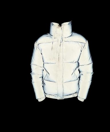 Рефлективная куртка зимняя. До -25. Мужской зимний пуховик рефлектив