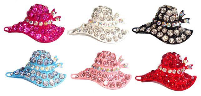 Ekskluzywne kapelusiki z cyrkoniami